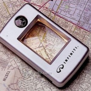 Lighted Magnifier W/Compass