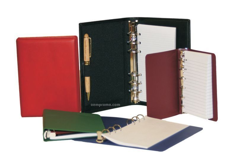 "Memo 6 Ring Binder - 6 3/4""X3 3/4"" Sheet Size (3/4"" Ring)"