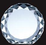 Optical Crystal Gem-cut Circle Award - Medium