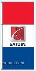 Stock Single Face Dealer Rotator Drape Flags - Saturn