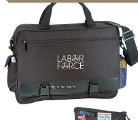 Briefcase W/ Cell Phone Pouch & Bottle Holder