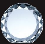 Optical Crystal Gem-cut Circle Award - Small