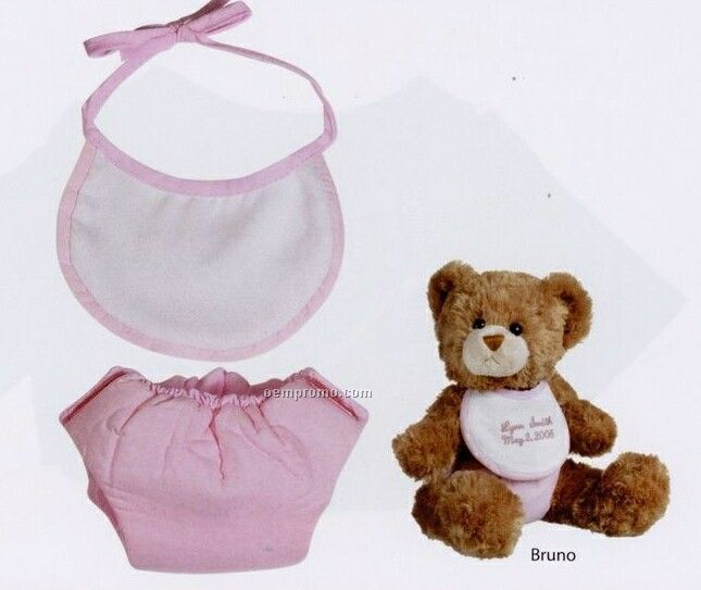 Bearwear Bib & Diaper Set