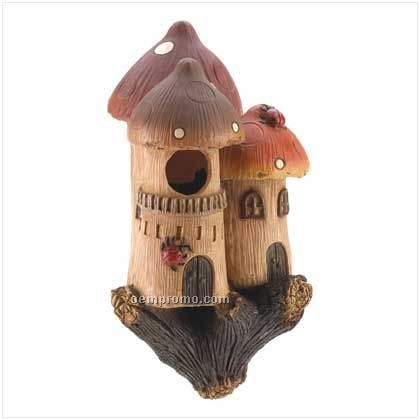 Mushroom Castle Birdhouse