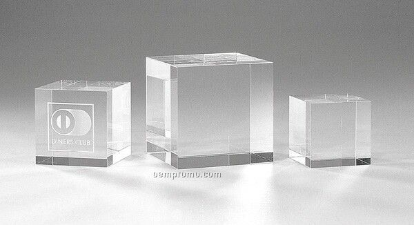 "Optic Crystal Cube (2 3/8"" Cube)"