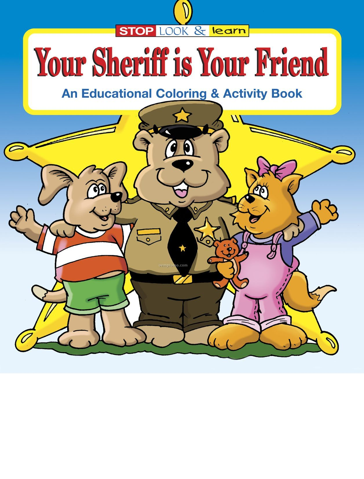 Your Sheriff Is Your Friend Coloring And Activity Book