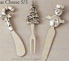 Christmas 3 Piece Cheese Set