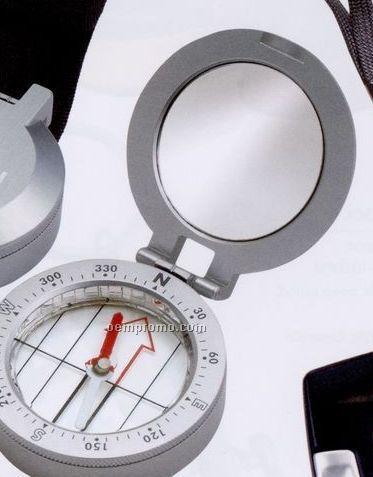 Metal Compass W/Mirror
