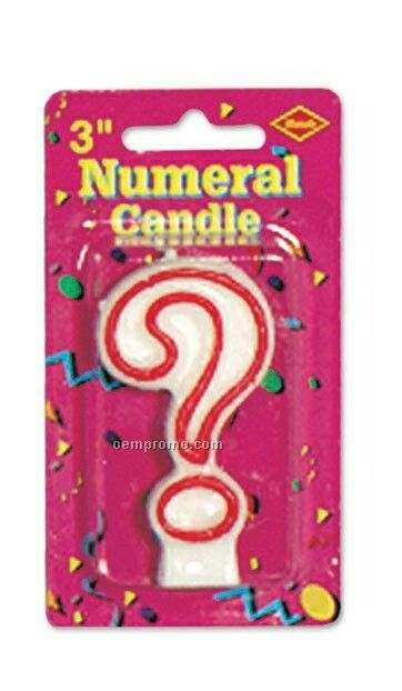 Outlined Question Mark Candle