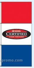 Stock Single Face Dealer Rotator Drape Flags - Toyota Certified
