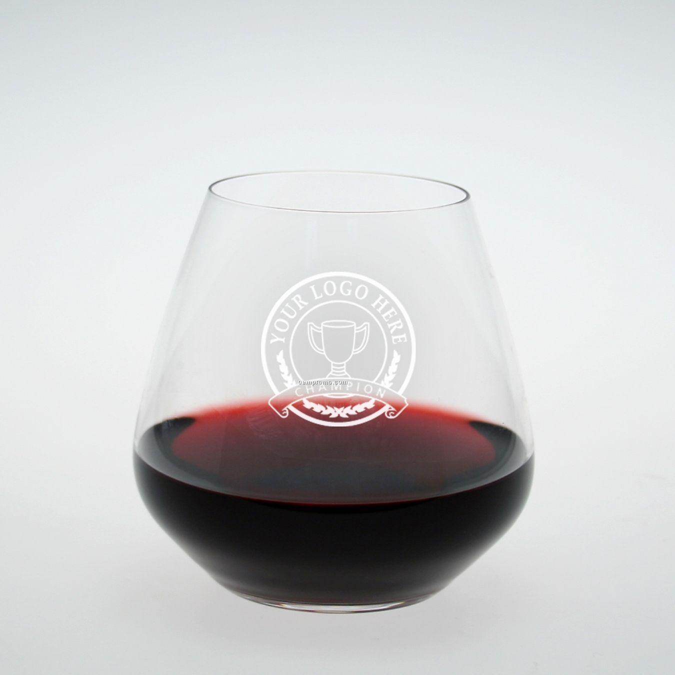 Studio Stemless Burgundy/ Pinot Noir Glass (Set Of 4 - Deep Etch)