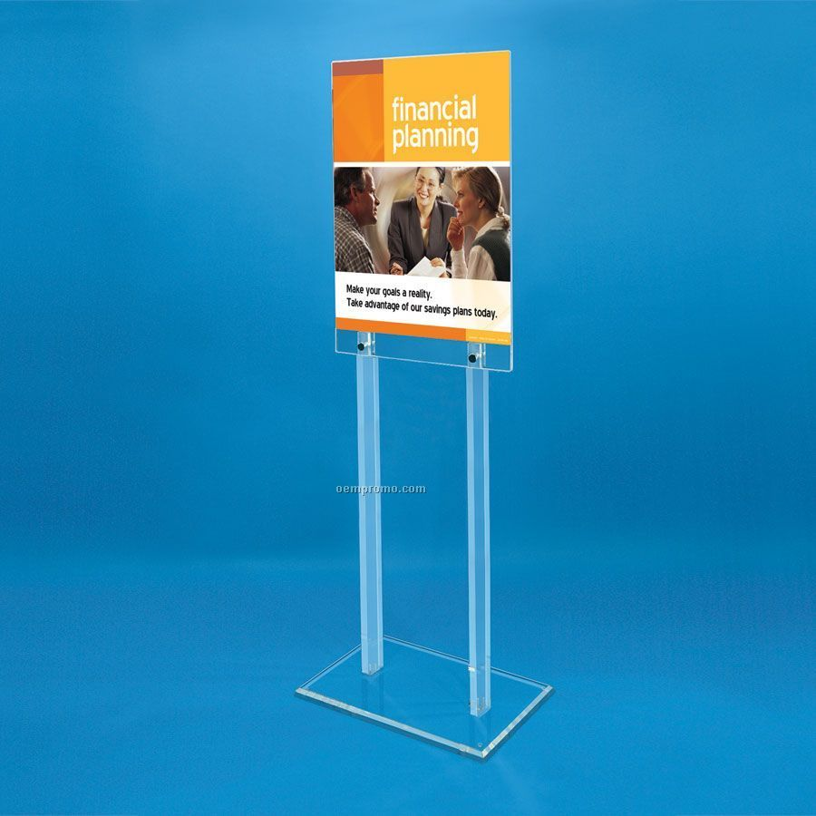 Exhibition Stand Wholesale : Sided acrylic floor poster stand china wholesale