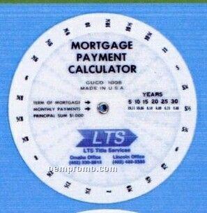 "4"" Circular Mortgage Payment Calculator"