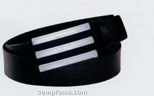 "Build A Belt Leather Belt Strap W/ Interchangeable Design/ White/36"""