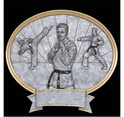 "Karate, Male Oval Legend Plates - 8"""