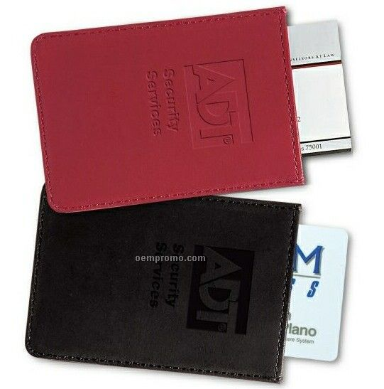 Personal Leather Pop-up Card Case