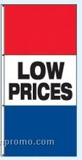 Single Face Stock Message Rotator Drape Flags - Low Prices