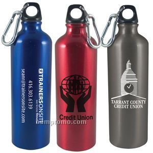 25 Oz. Aluminum Bottle W/ Carabiner