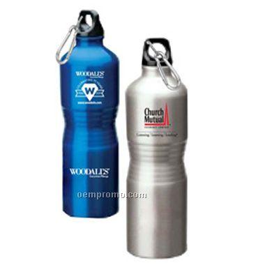 Aluminum Sport Bottle, Firm Bent-in Grip Shape(Screen Printed)