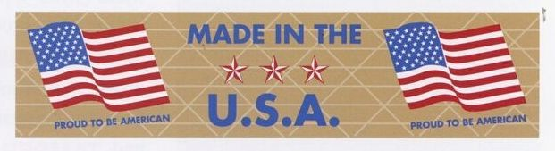 """Stock Imprinted Reinforced Gummed Tape/ 3""""X375' (Made In The U.s.a.)"""