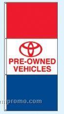 Stock Single Face Dealer Rotator Drape Flags - Toyota Pre-owned