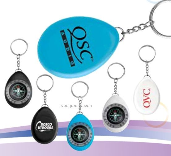 Oval Compass/ Key Ring
