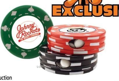Poker Chip Tin W/ Small Peppermints