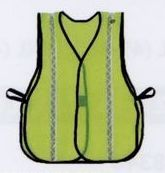 Reflective Stripe All Purpose Lime Green Vest (4xl-5xl) Blank