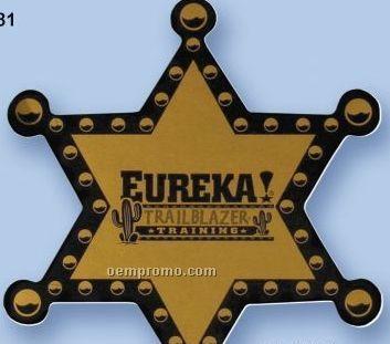 "Stock Sheriff Badge Polystyrene Full Color Button (3"")"