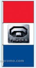 Stock Single Face Dealer Rotator Drape Flags - Trucks