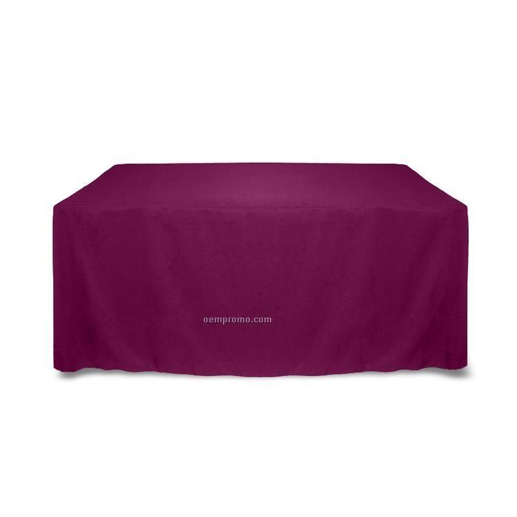 6' Solid Color Poly Poplin Table Throw - Black