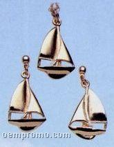 Gold Plated Sloop Earrings