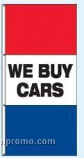 Single Face Stock Message Rotator Drape Flags - We Buy Cars
