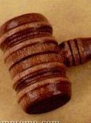 Miniature Barrel Head Novelty Gavel Keychain