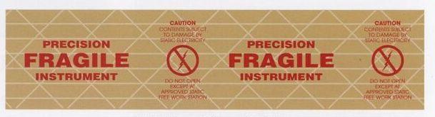 """Stock Imprinted Reinforced Gummed Tape/ 3""""X375' (Fragile Instrument)"""