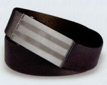 Dress Belt W/ Brushed Gun Metal Buckle / 34""