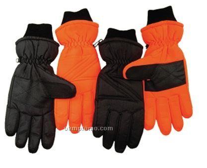 Embroidered Winter Ski Gloves - S/M & M/L