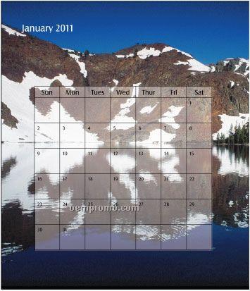 2011 Desk Jewel Case Calendar - Scenic America