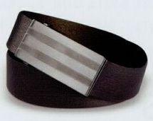 "Dress Belt W/ Brushed Gun Metal Buckle / 36"""