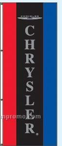 Single Face Dealer Rotator Drape Flags - Chrysler