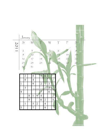 2011 Desk Jewel Case Calendar - Sudoku