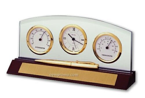 Weston Clock W Thermometer And Hygrometer China Wholesale