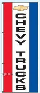 Single Face Dealer Rotator Drape Flags - Chevy Trucks