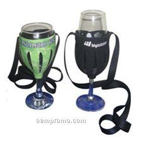 Wine Glass Holder W/Neck Strap