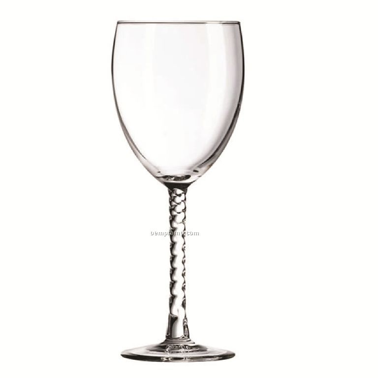10.5 Oz. Arc Angelique Goblet With Spiral Stem/ Blank