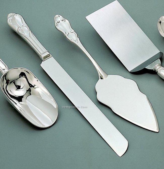 Elegance Nickel Plated Cake Knife/ Server Set
