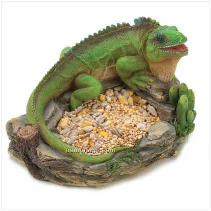 Green Iguana Birdfeeder