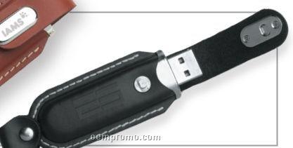 Novara Black Leatherette USB Flash Drive (256 Mb)