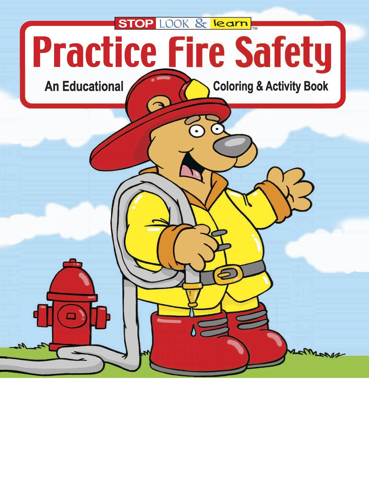 Practice Fire Safety Coloring Book