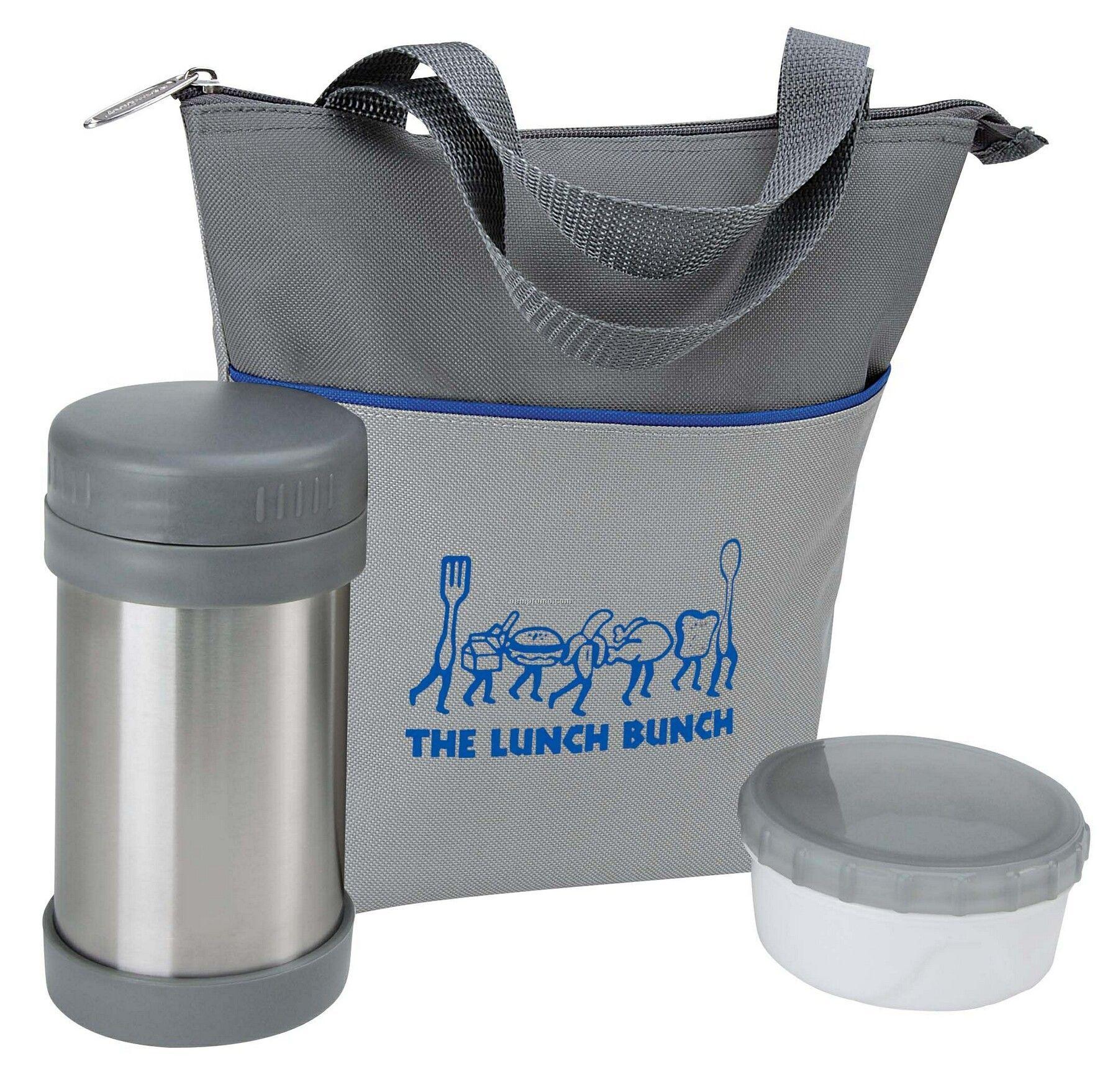 Rcc Koozie Lunch Bag Set W/ Storage Containers